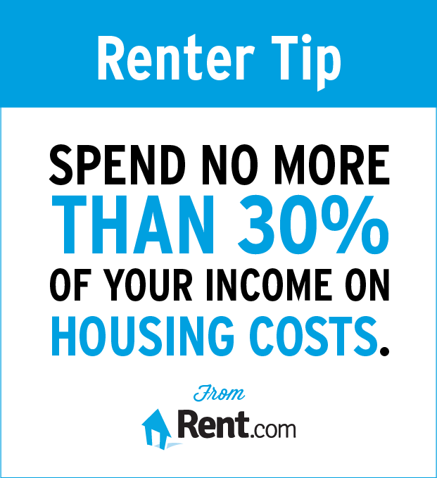 Spend no more than 30% of your income on housing costs.
