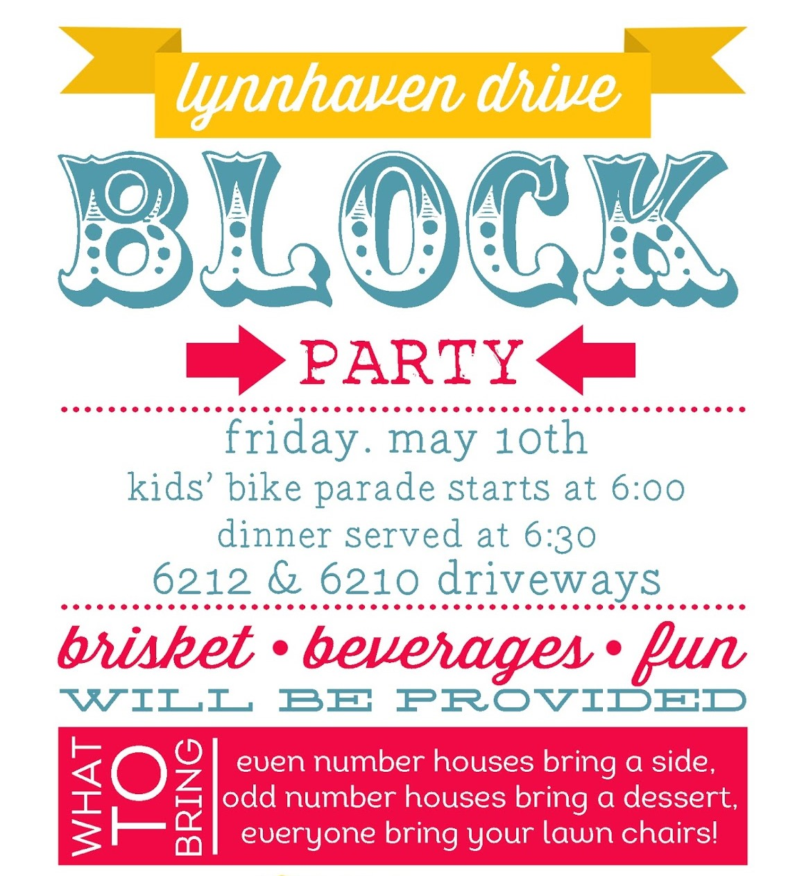 Planning A Summer Block Party - Create Invites
