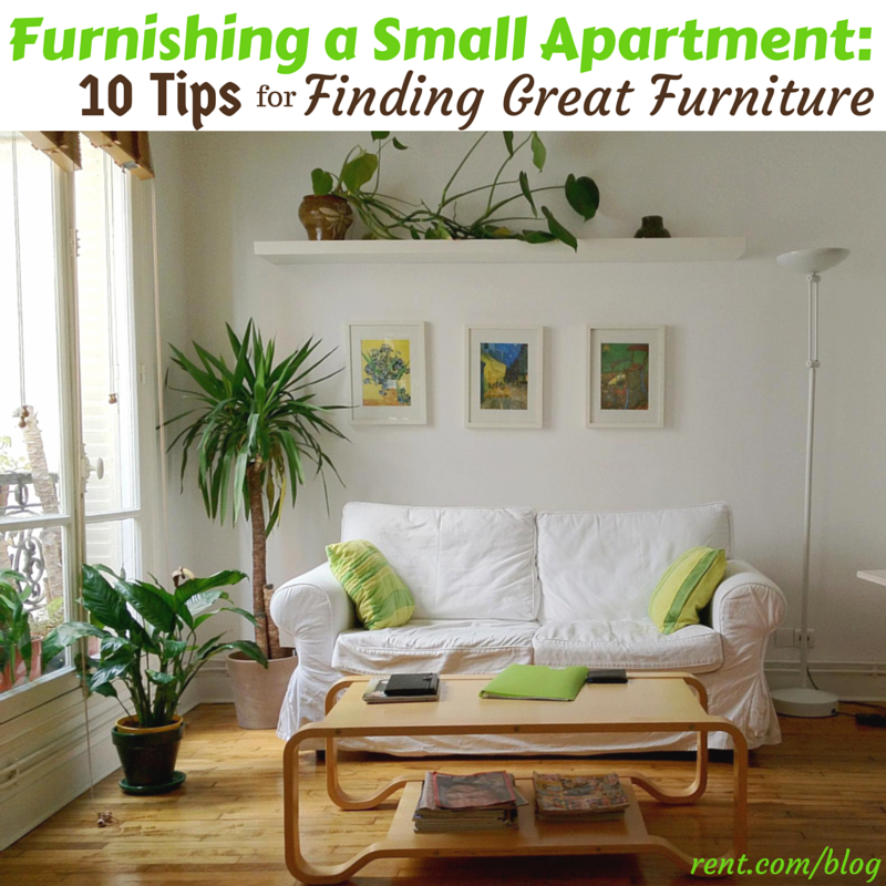 Furnishing a Small Apartment- 10 Tips for Finding Great Furniture