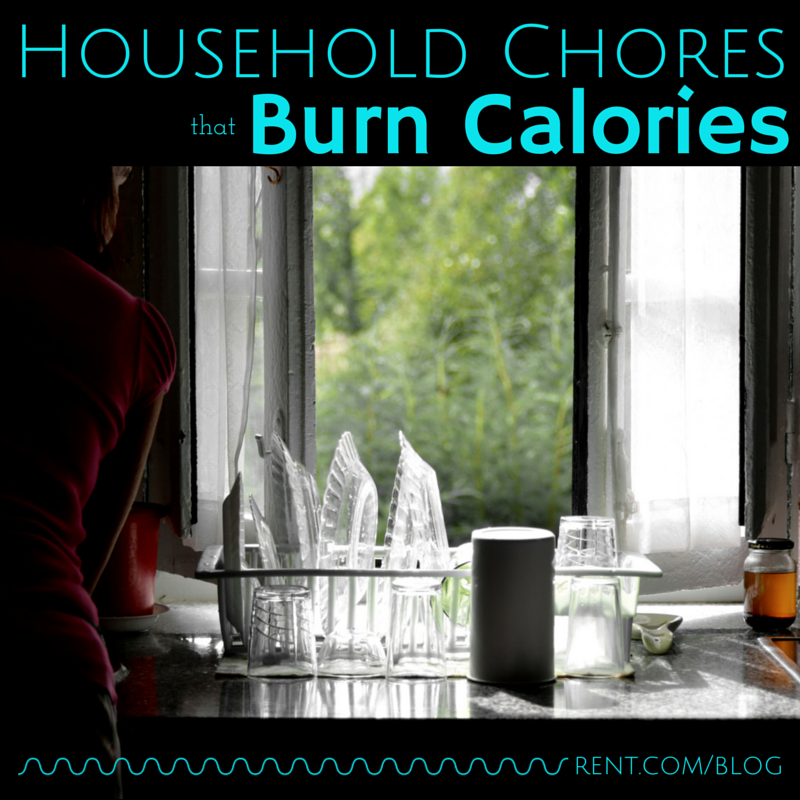 Household Chores that also Burn Calories - Get a clean apartment and burn some calories with these chores!