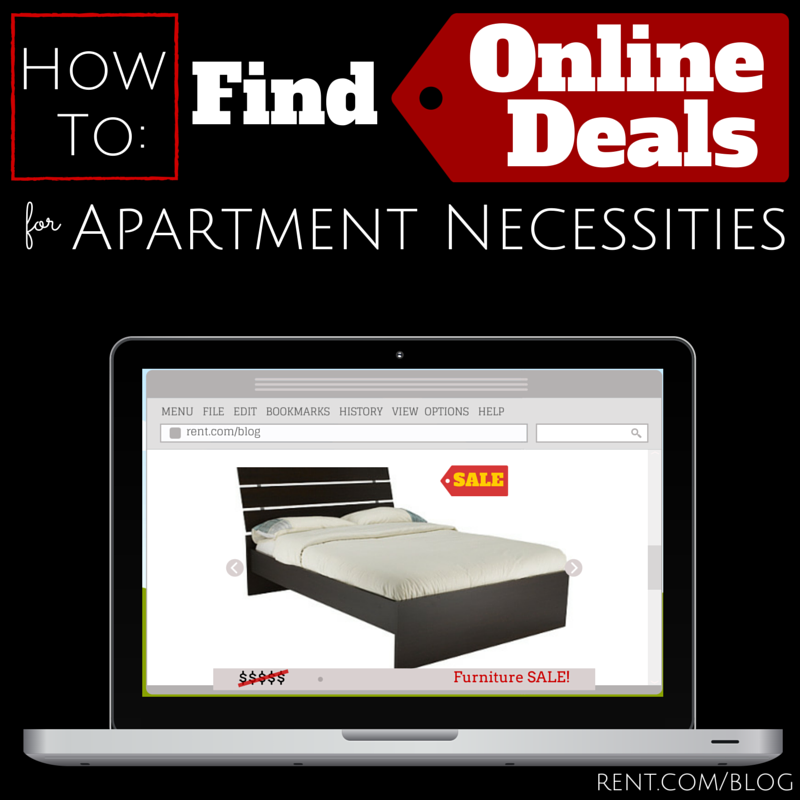 How to Find Online Deals for Apartment Necessities!