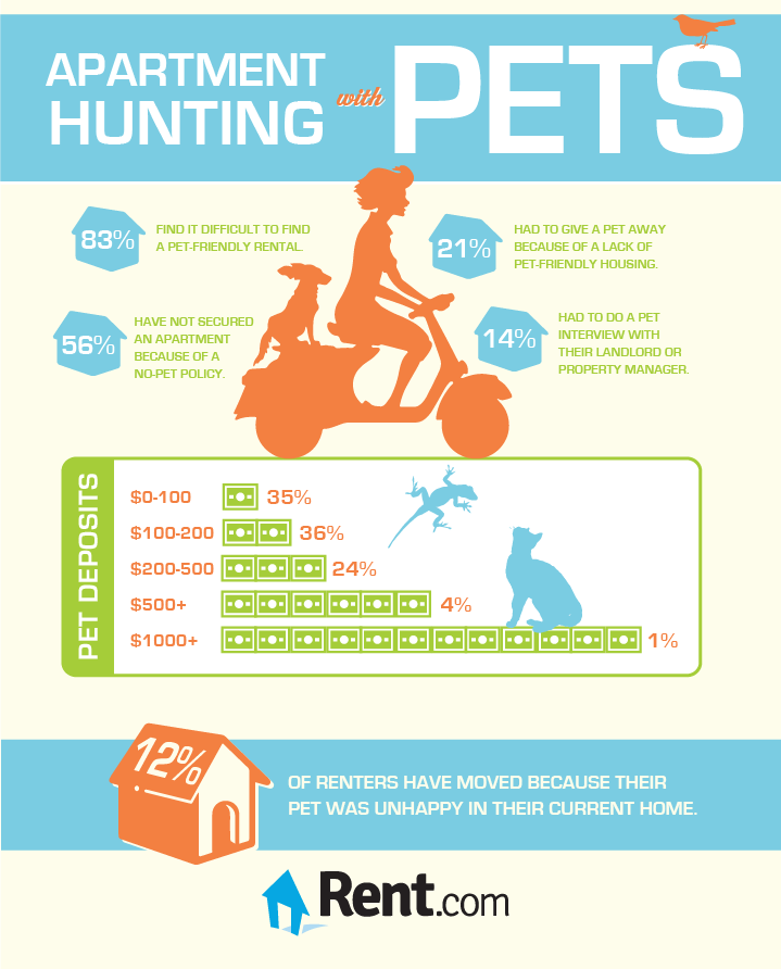 Apartment Hunting with Pets Infographic