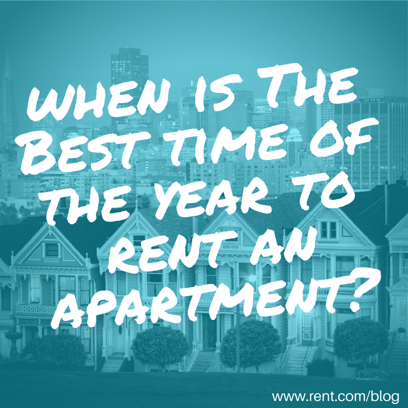 When Is the Best Time of the Year to Rent an Apartment