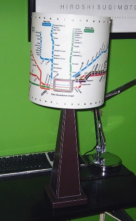 Decorating with Maps - Lamp Shade