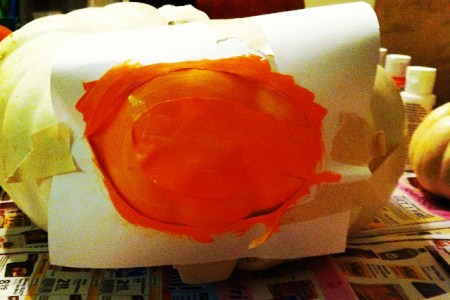 Pumpkin Painting - Paint with a Stencil