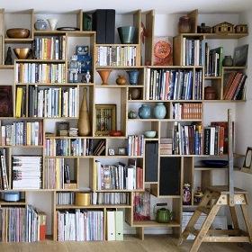 Apartment Decorating with Books - Organized Bookshelf