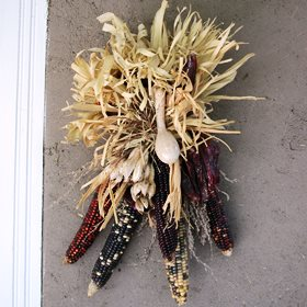 DIY Fall Wreath Ideas - Dried Corn