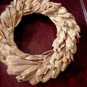 DIY Fall Wreath Ideas - Corns Husks