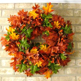 DIY Fall Wreath Ideas - Fall Leaves