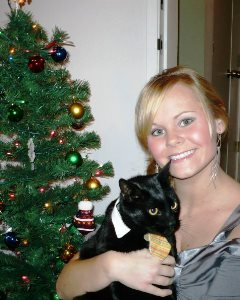 Holiday Card Ideas - Cat in Tie