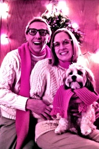 Holiday Card Ideas - Funny Family Photo with Scarves