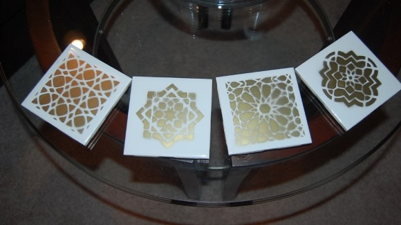 DIY Decor Moroccan Tile Coasters - Complete