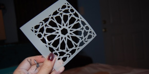 DIY Decor - Moroccan Tile Coasters - Step 2