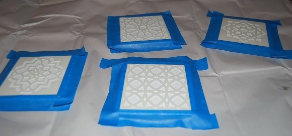 DIY Decor - Moroccan Tile Coasters - Step 3