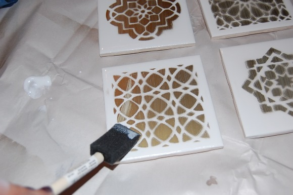 DIY Decor - Moroccan Tile Coasters - Step 6