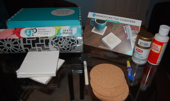 DIY Decor - Moroccan Tile Coasters - Supplies