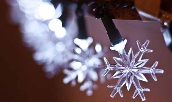 Winter Decor Ideas - Snowflake Lights