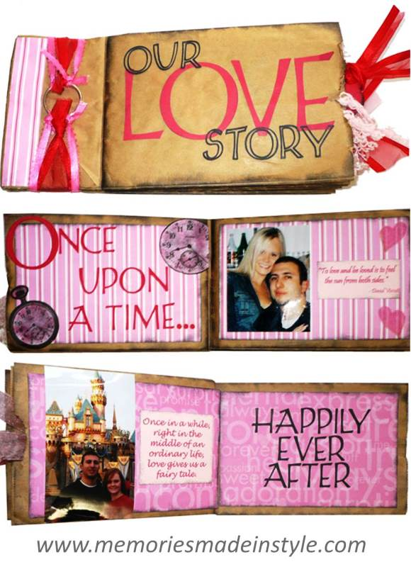 DIY Valentines Gifts - Scrapbook
