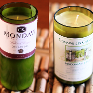 Wine Bottle Crafts for DIY Decor - Wine Bottle Candles_Thumbnail