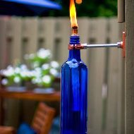 Wine Bottle Crafts for DIY Decor - Wine Bottle Tiki Torches_Thumbnail