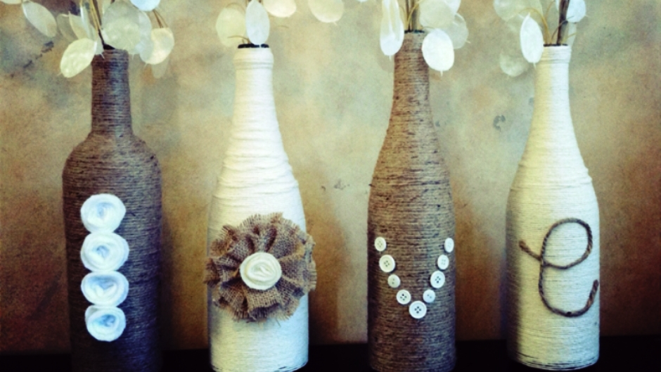 Decorative Wine Bottles Diy Amusing Painted Love Wine Bottles  Craftbnb Design Ideas