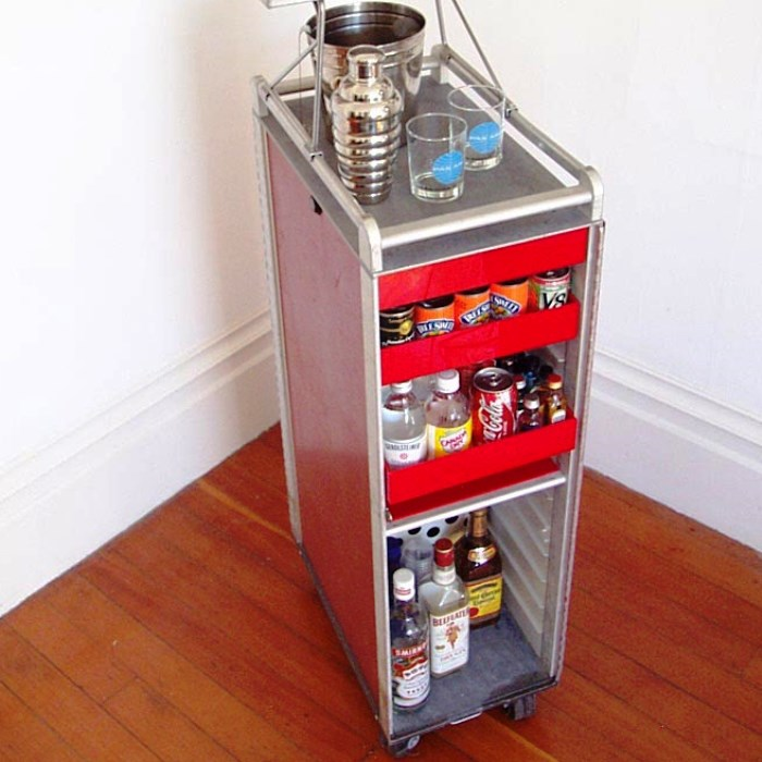 Home Bar Ideas for Your Apartment - Industrial Bar Cart