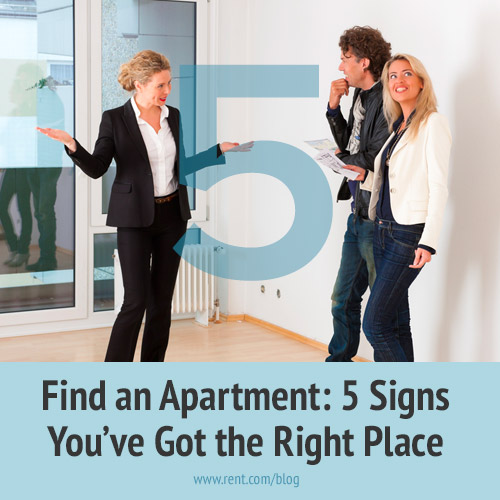 Find an Apartment - 5 Signs