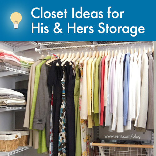 Closet Ideas - His and Her Storage