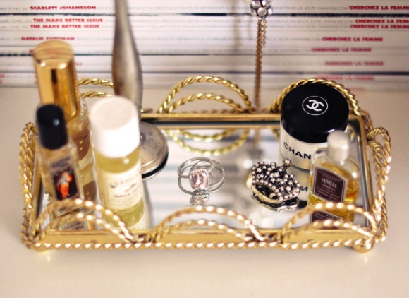 Decorating With Mirrors - Perfume Tray