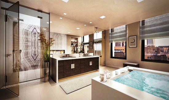 Leonardo DiCaprio's New Eco-Friendly Apartment - Bathroom