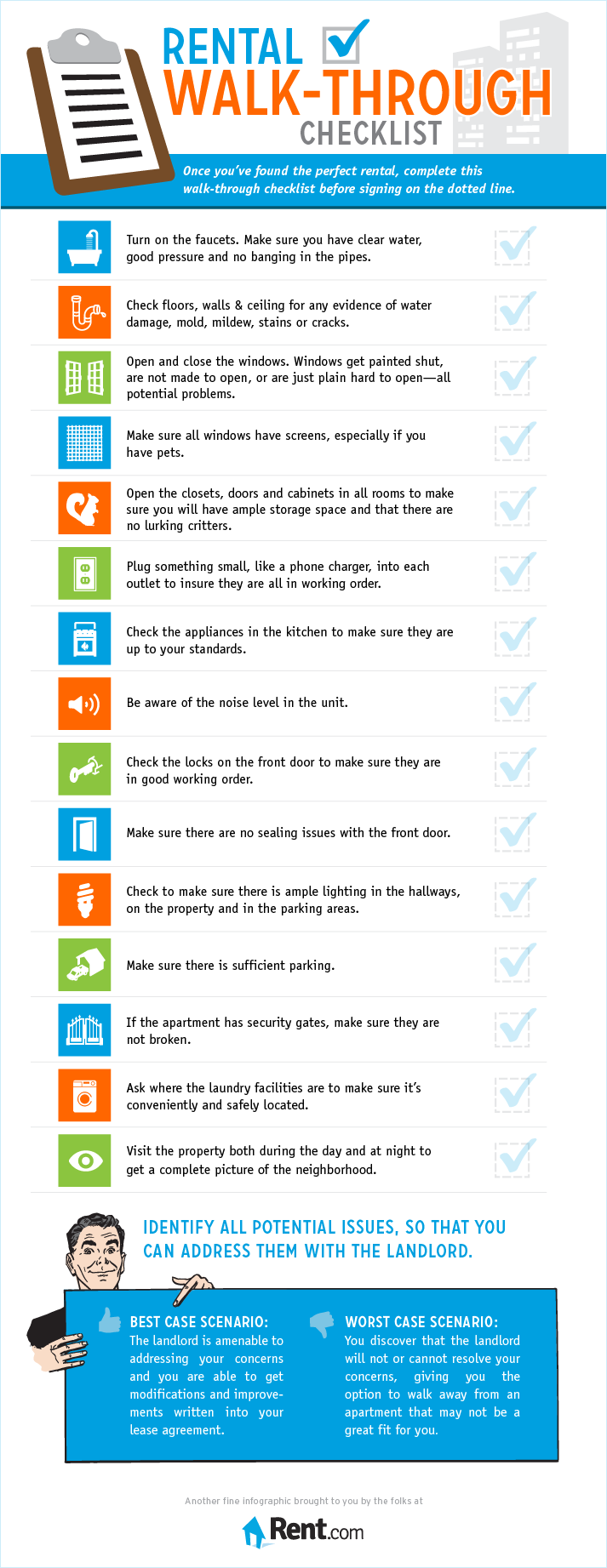Rental Walk-Through Checklist Infographic - Rent.com Blog