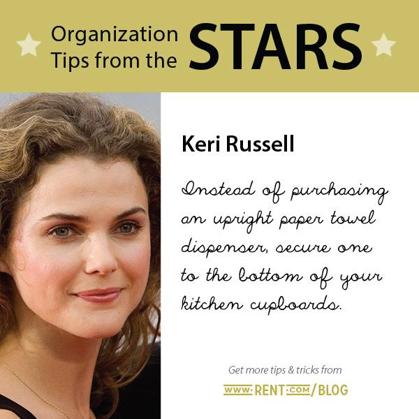 Celeb Organization Tips - Keri Russell