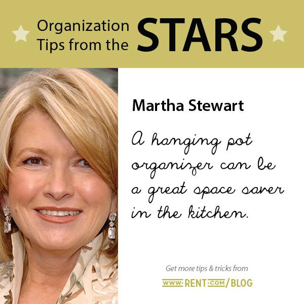 Celeb Organization Tips - Martha Stewart