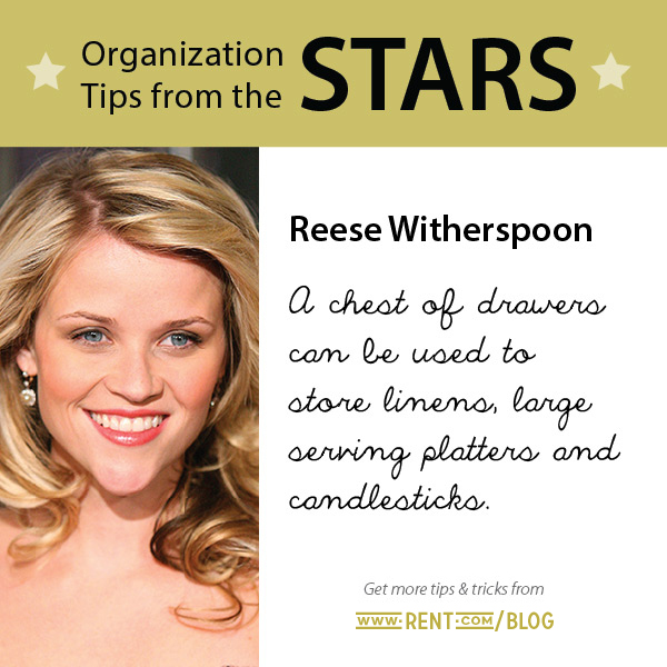Celeb Organization Tips - Reese Witherspoon