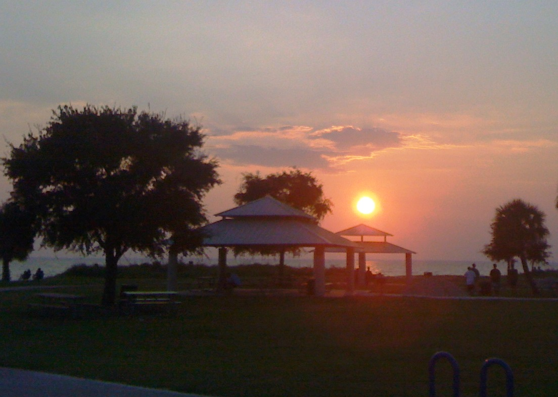 Summer Activities in Tampa - Sunset at Cypress Point Park