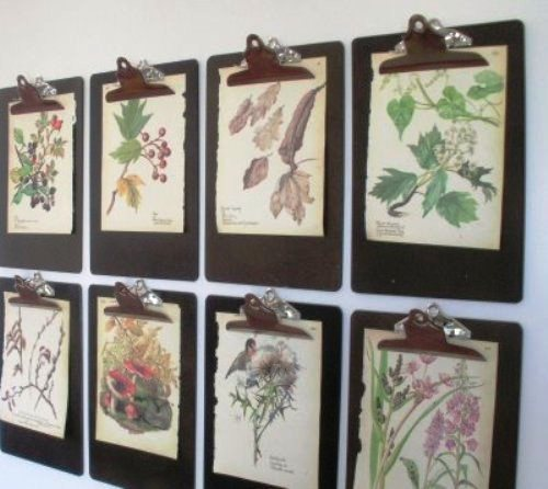 DIY Wall Decor - Clipboards