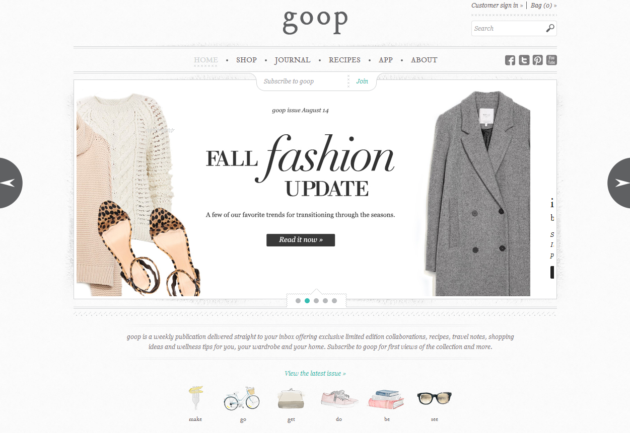 Celebrity Blogs - Goop
