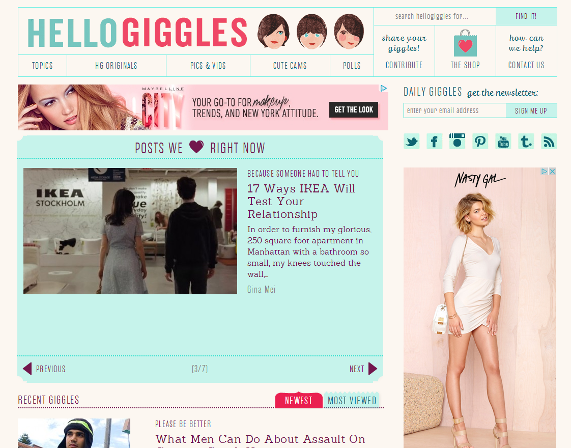 Celebrity Blogs - HelloGiggles