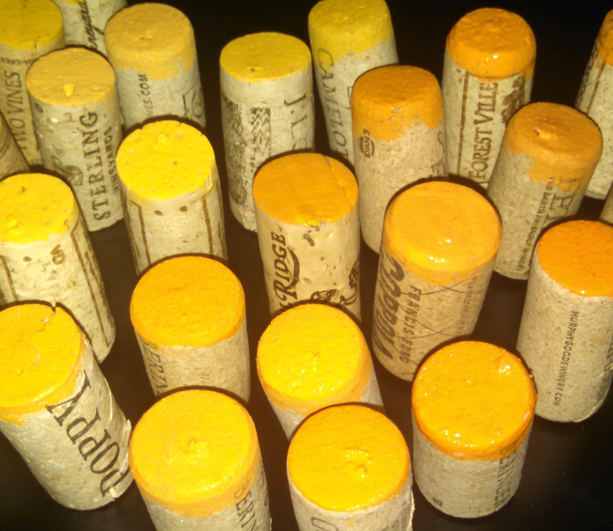 Painted Wine Corks