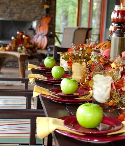 Easy and Affordable Fall Decorating Ideas - Apple Place Settings