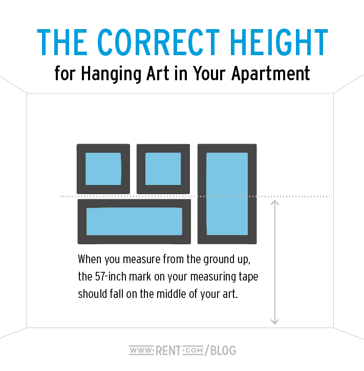 Correct Height To Hang Pictures: 6 Common Apartment Decorating Mistakes