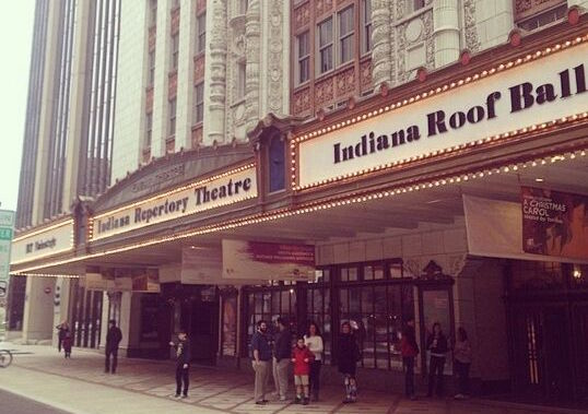 Front view of the historic Indiana Repertory Theatre