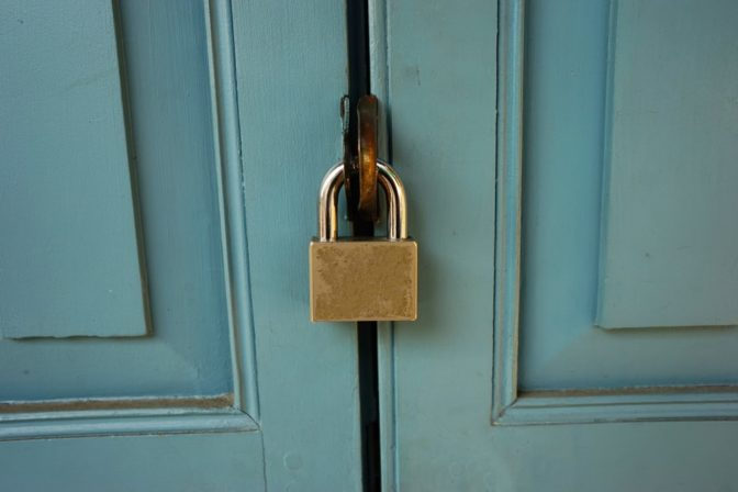 Locked doors are less likely to open in a crash