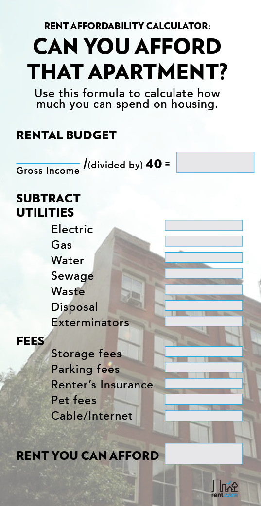 can you afford that apartment rent com blog
