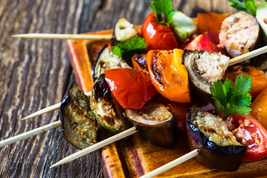 grilled veggies on the barbecue grill
