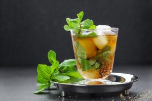 mint julep with bourbon