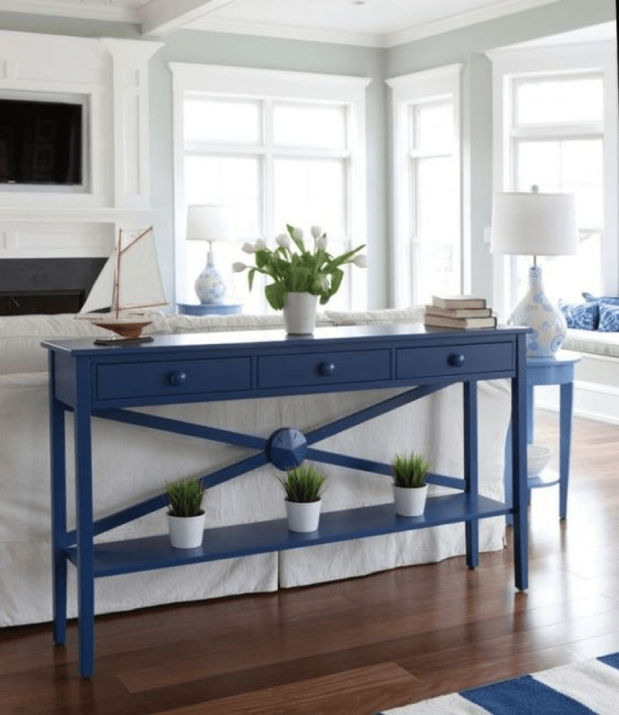 DIY decor grey blue