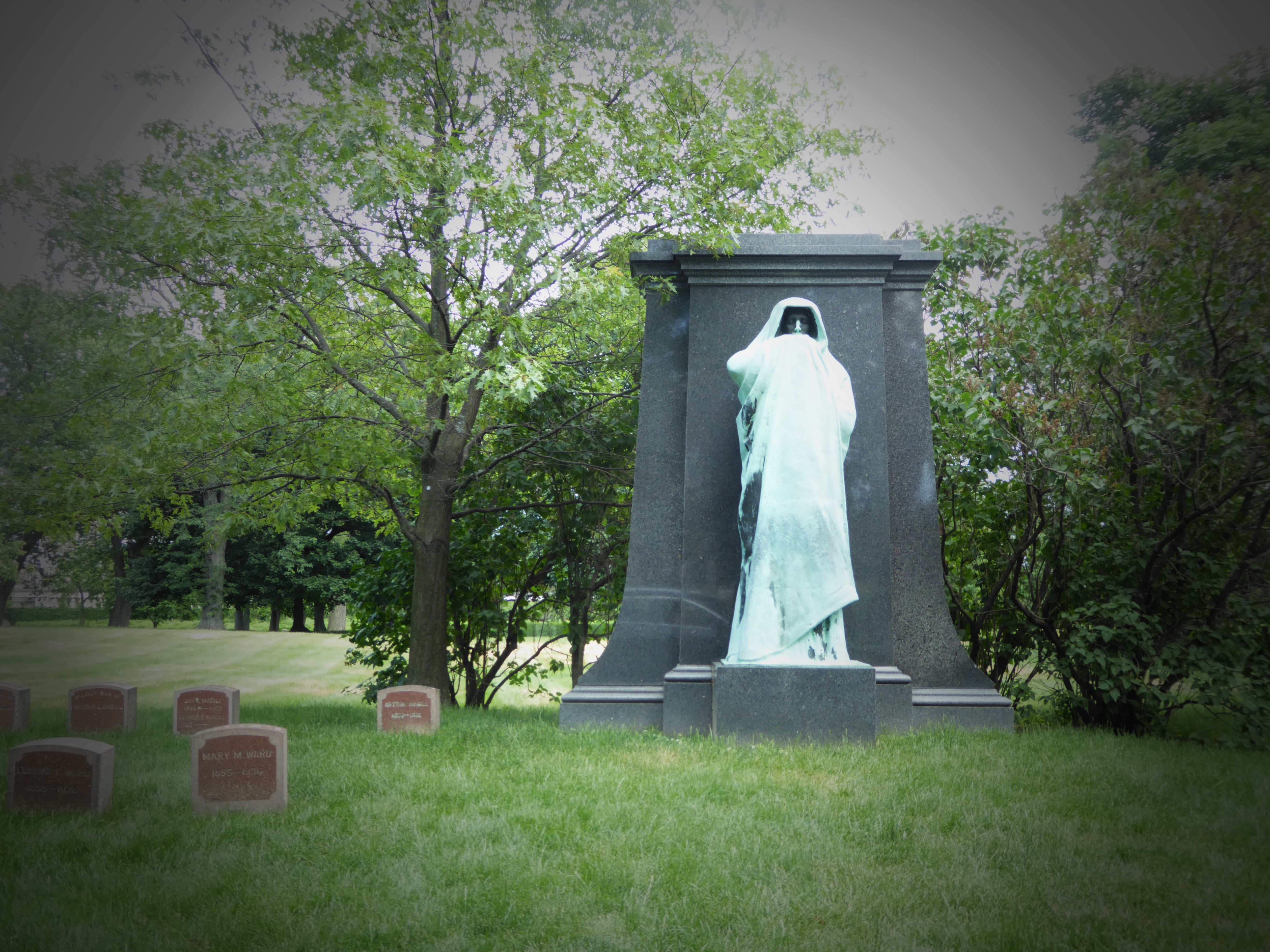 graceland cemetery eternal silence statue chicago