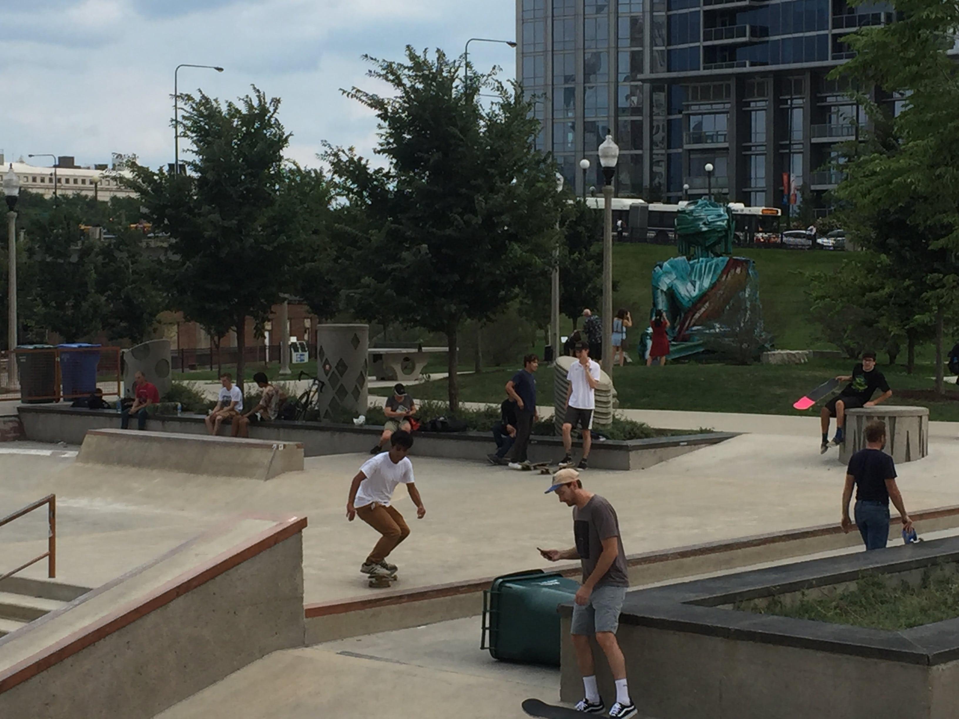 grant park chicago skateboarders