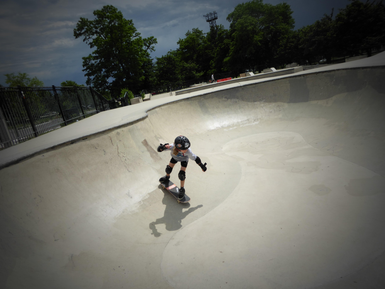 Wilson Park Chicago Skateboarder